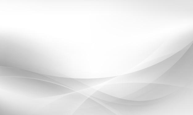 Sfondo morbido onda bianca e grigia