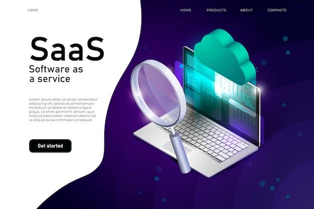 Software come illustrazione isometrica di servizio