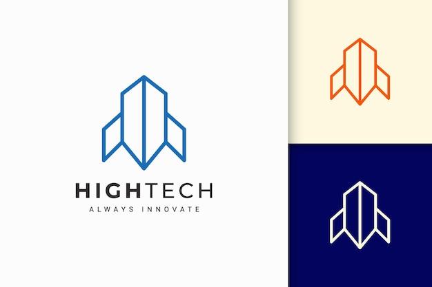 Logo di software o tecnologia a forma di linea astratta