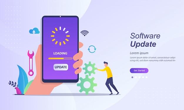 Modello della pagina di destinazione dell'aggiornamento software