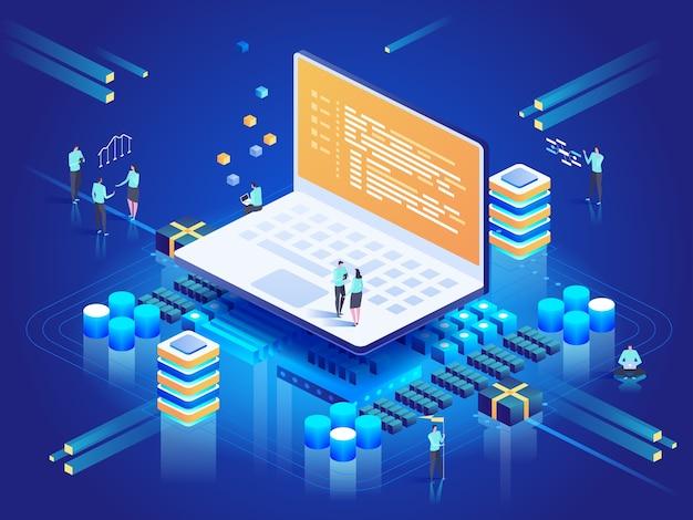 Software, sviluppo web, concetto di programmazione.