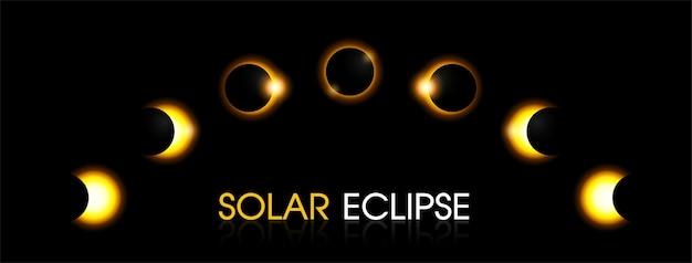Eclissi solare del sole.