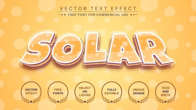 Stile del carattere dell'effetto di modifica del testo solare