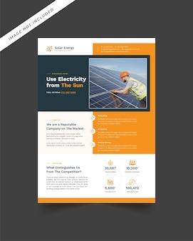 Modello di volantino per l'energia solare