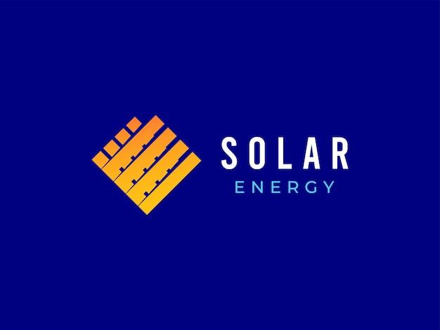 Concetto di design del logo a energia solare