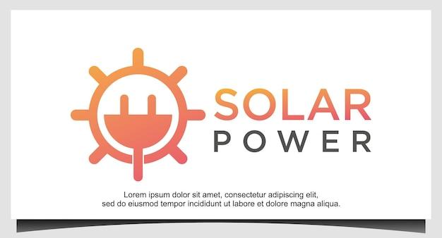 Modello di progettazione del logo a energia solare