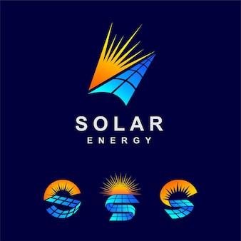 Set di logo solare con forma multipla