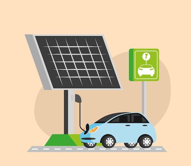 Stazione di ricarica per auto elettriche a pannello solare
