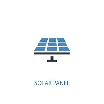 Icona colorata di concetto 2 del pannello solare. illustrazione semplice dell'elemento blu. disegno di simbolo di concetto di pannello solare. può essere utilizzato per ui/ux mobile e web