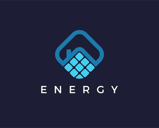 Pannelli solari tetto icona vettore pulsante logo simbolo concept
