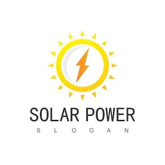Modello di progettazione di logo di energia solare.