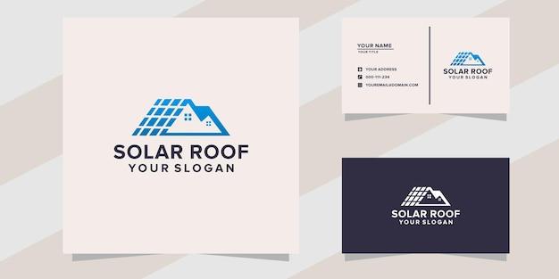Modello logo tetto solare