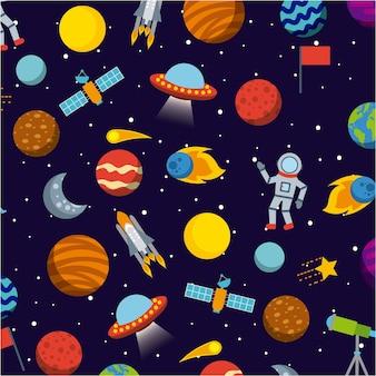 Le icone del sistema solare sono piatte