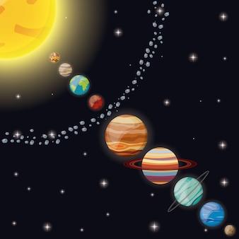Spazio dell'universo del sistema solare