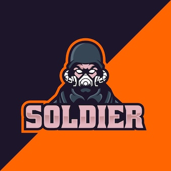 Soldato esport e logo sportivo