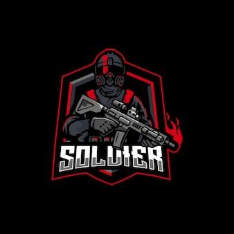 Logo di esport del soldato