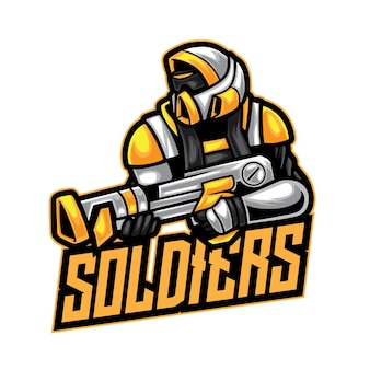 Soldato robot warrior esport logo