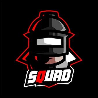 Mascotte della squadra di soldati per la squadra del logo di e-sport