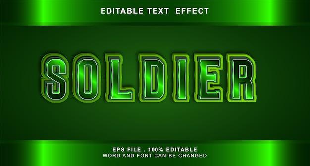 Effetto testo soldato modificabile