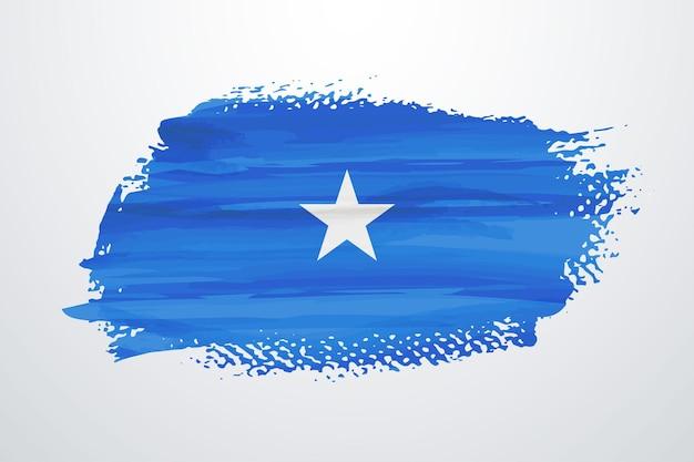 Bandiera della somalia pennello vernice