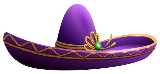 Cappello nazionale sombrero messicano per la festa del cinco de mayo