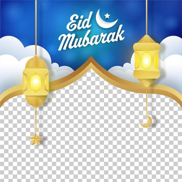 Modello di progettazione post media sosial eid mubarak