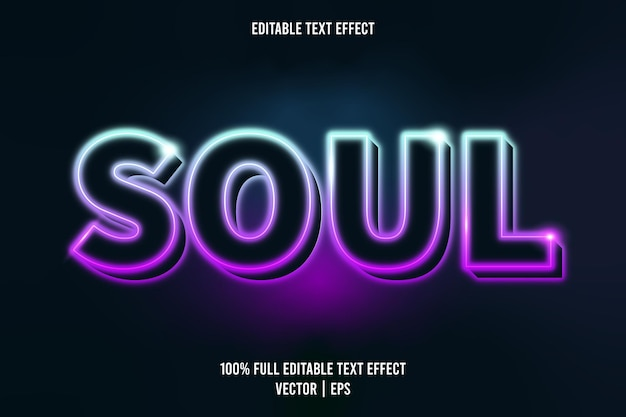 Effetto di testo modificabile anima stile neon