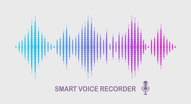 Onda audio sonora dall'equalizzatore