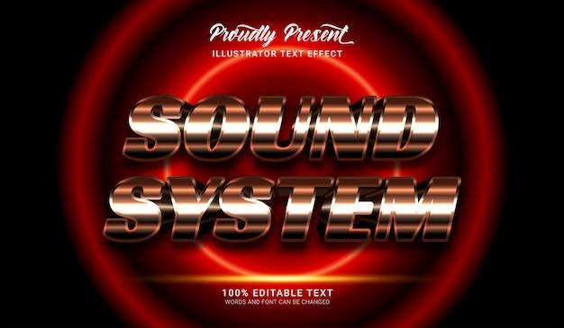 Effetto stile testo del sistema audio. effetto di testo modificabile