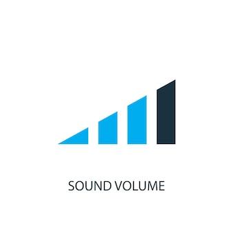 Icona del volume del suono. illustrazione dell'elemento logo. disegno di simbolo del volume del suono da 2 collezione colorata. semplice concetto di volume del suono. può essere utilizzato in web e mobile.