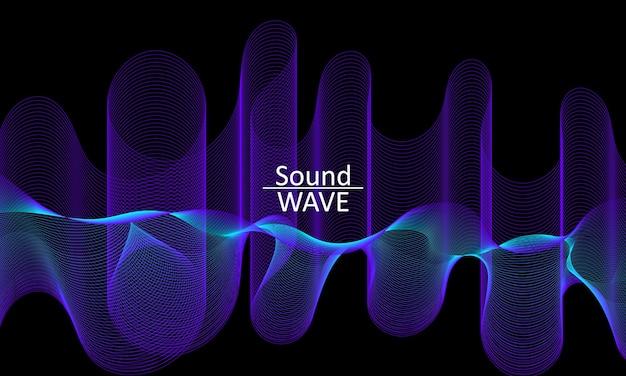 Onda sonora. forma astratta 3d. sfondo fluido di flusso.