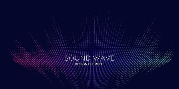 Equalizzatore dell'onda sonora. illustrazione vettoriale moderna su sfondo scuro