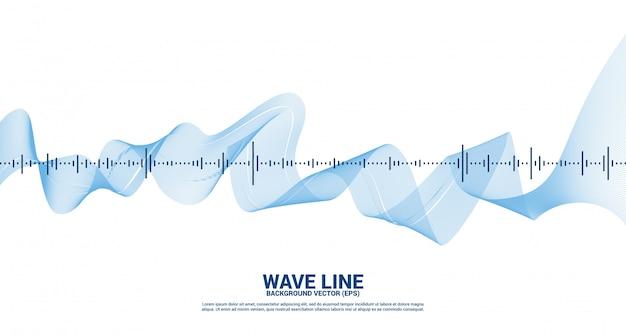 Priorità bassa dell'equalizzatore di musica dell'onda sonora. segnale vocale audio visivo della musica