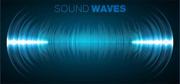 Onde sonore che oscillano luce oscura