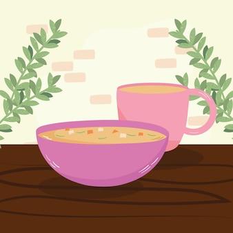 Zuppa e caffè