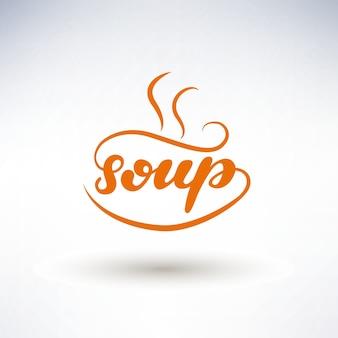 Soup lettering logo design