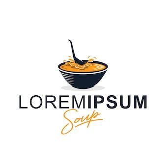 Modello di progettazione di logo di zuppa