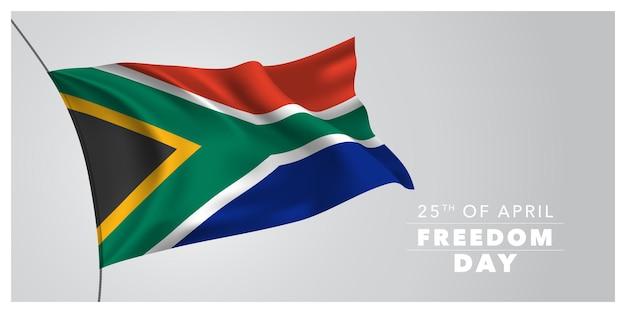 Cartolina d'auguri di felice giorno della libertà del sudafrica