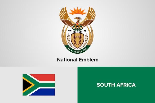 Modello di bandiera nazionale dell'emblema del sud africa