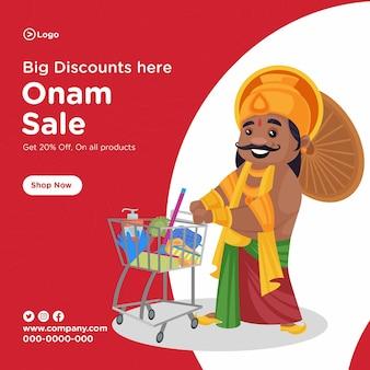 Progettazione di banner di vendita onam dell'india meridionale