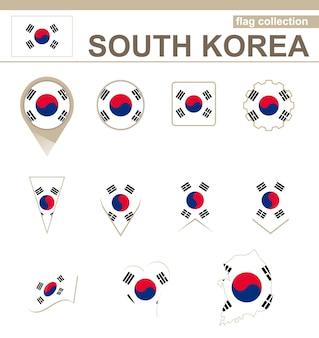 Collezione di bandiere della corea del sud, 12 versioni
