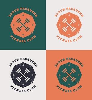 Disegno di t-shirt grunge south pasadena fitness club