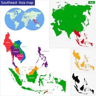 Mappa asia sud-orientale