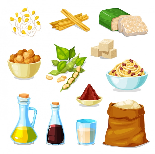 Prodotti a base di soia di legumi di soia