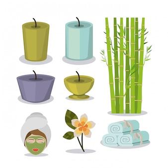 Design spa, illustrazione vettoriale.