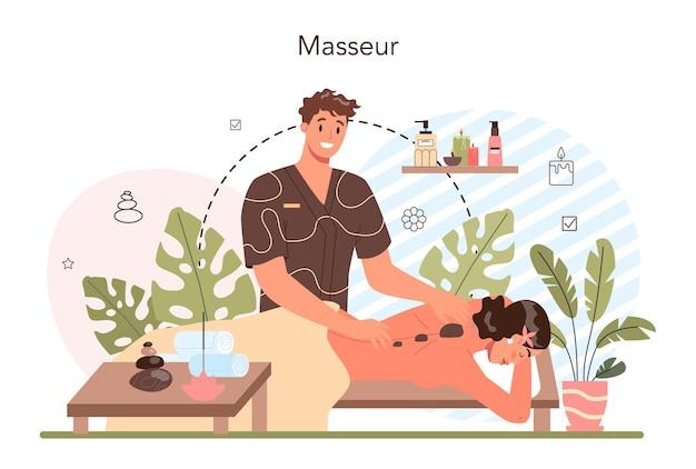 Procedura spa nel salone di bellezza