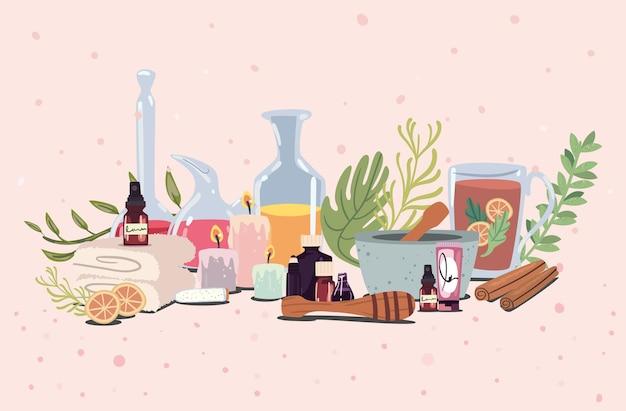 Icone di terapia termale