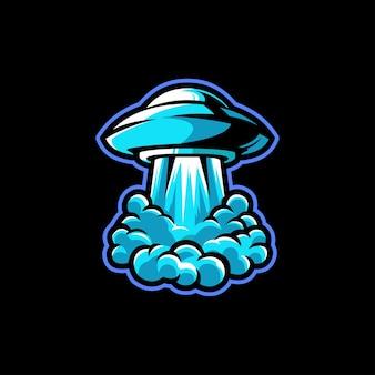 Spazio misterioso alieno astronave pianeta
