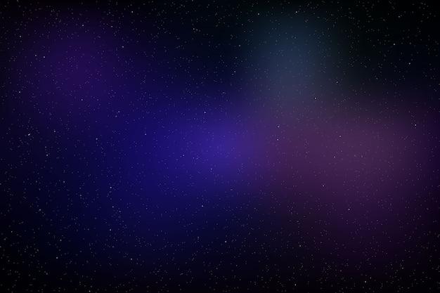 Sfondo dello spazio con stelle incandescente