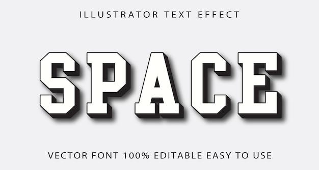 Effetto di testo modificabile spazio